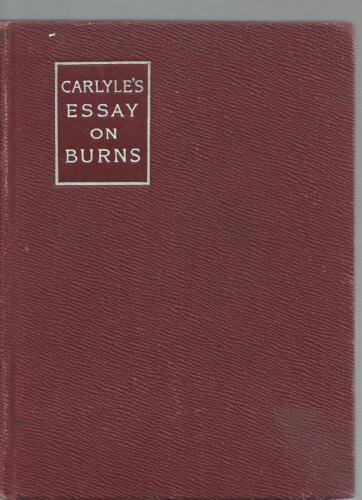 Carlyles Essay sur Brûlures Poèmes de 1904 par Willard Gore Mini Livre Macmilan