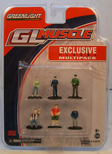 SIX ASSORTED PAINTED FIGURES GREENLIGHT 1:64 SCALE DIORAMA ACCESSORIES