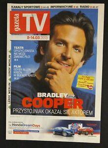 BRADLEY COOPER great mag.FRONT cover 2013, Poland - europe, Polska - Zwroty są przyjmowane - europe, Polska