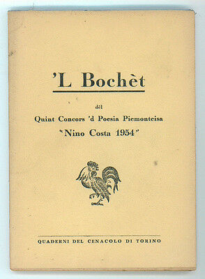 'L BOCHET DEL QUINT CONCORS 'D POESIA PIEMONTEISA NINO COSTA 1954 DIALETTO
