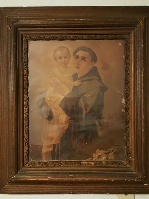 ANTIQUE Saint Anthony Padua circa 1880-90
