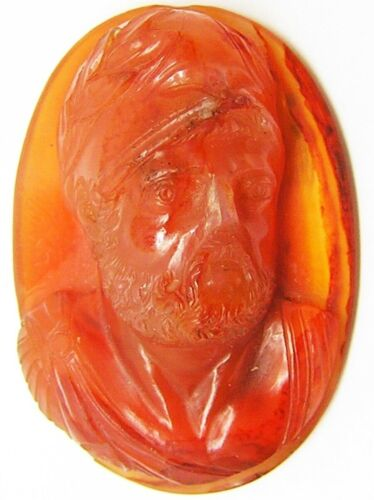 17th - 18th century Renaissance Roman hardstone relief cameo of Ajax the Great