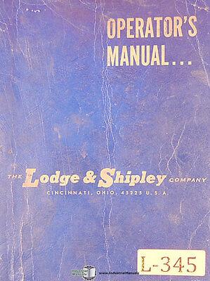 Lodge And Shipley 2ct40 And 2ct24 Shear Operations Manual 1970