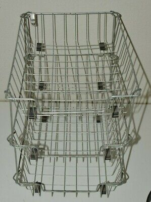 Vintage Mcm Metal Wire 3 Tier Shelf Desktop Office Paper Basket Organizer Rare