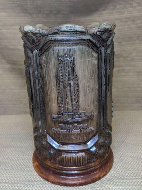 Vintage Bartlesville Oklahoma Souvenir Candle Oil Price Tower Frank Lloyd Wright