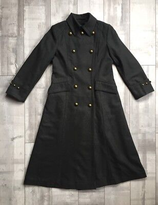 Jones New York Double-Breasted Wool Blend Maxi Coat 4 Petite S  Jones New York Double Breasted Coat