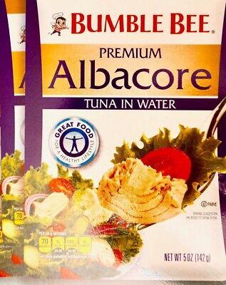 Bumble Bee Premium Albacore Tuna in Water Multi-Serve 5 oz Pouch 2, 4 or 8 (Bumble Bee Premium Albacore Tuna In Water)