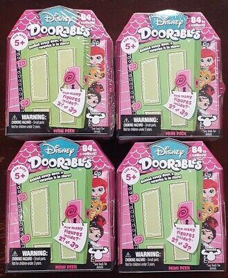 Disney Doorables Mini Peek Figure Blind Pack x 4 - New & Sealed