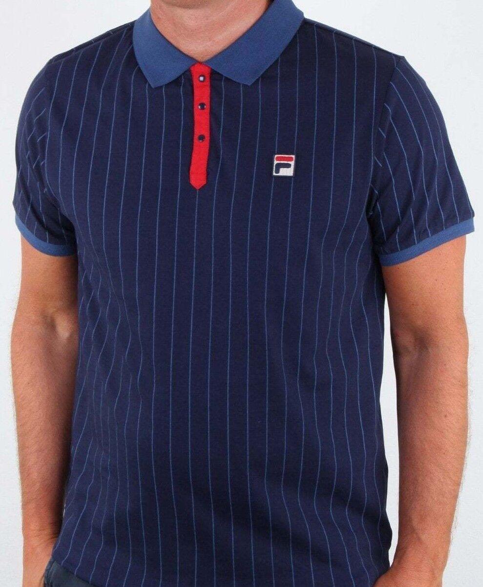 Fila Vintage Blue Retro Polo Tennis Shirt  Dagenham Redbridge Peterborough