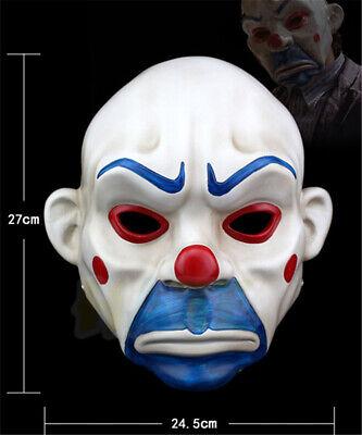 Joker Bank Räuber Harz Maske Clown Batman Dark Knight Cosplay Partei Prop