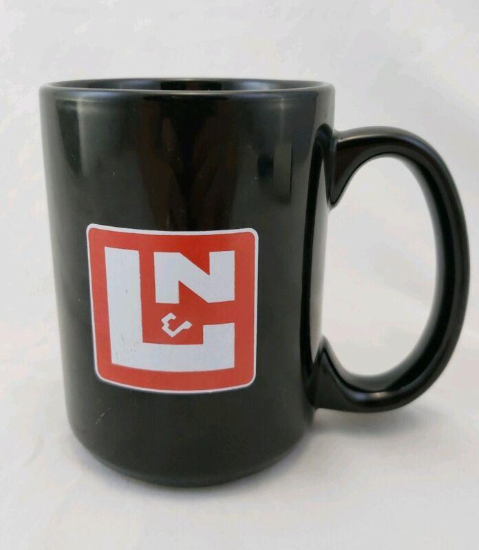 L & N Railroad Coffee Cup  Black Red Logo