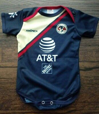 Club America Away baby soccer Jersey mameluco bebe liga mx
