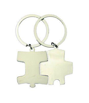 HAAC 1 Paar Schlüsselanhänger Freundschaftsanhänger Partneranhänger Puzzle 9,5cm