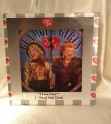 I Love Lucy Glamour Girls  7 Wood Wall Clock New in Sealed Box