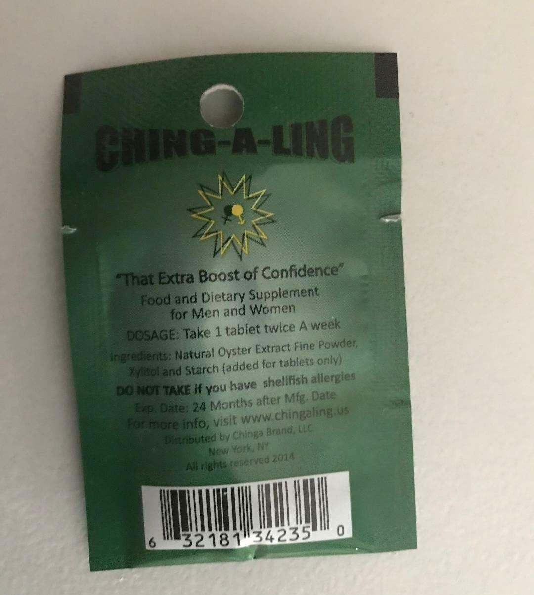 3 tablet  ching-a -ling 100% all natural libido  for men and women  1