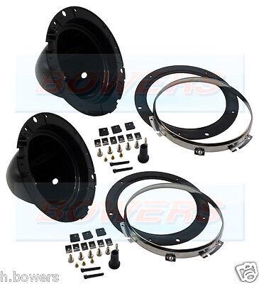 "WIPAC 7"" HEADLIGHT HEADLAMP PLASTIC BACK BOWLS BUCKETS +FIXINGS CLASSIC CAR MINI"