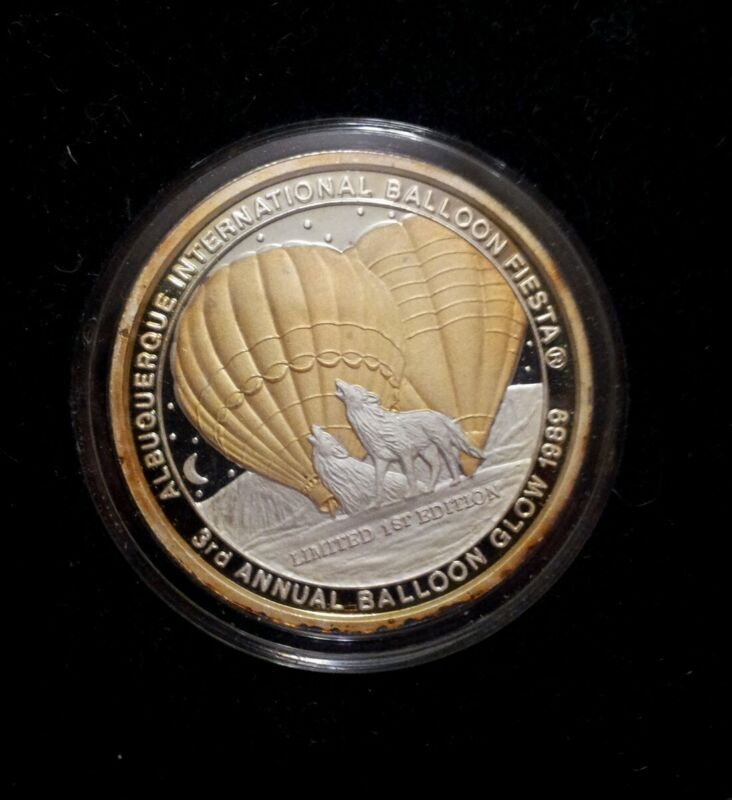 Official 1989 Albuquerque International Balloon Fiesta Commemorative Coin