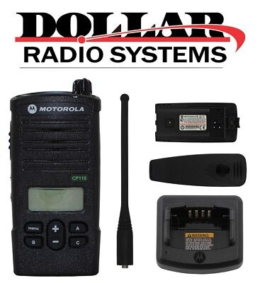 Motorola Cp110 Rdx Uhf 450-470mhz 16ch Security Portable Radio With Display