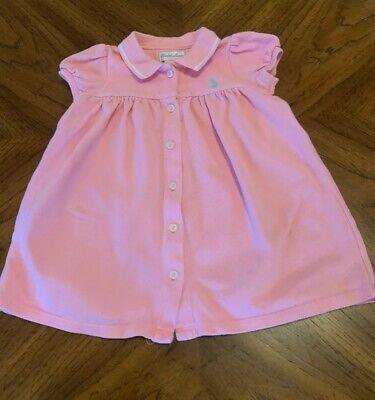 Ralph Lauren Polo Infant Girl Dress Button Down Pink 9 Months