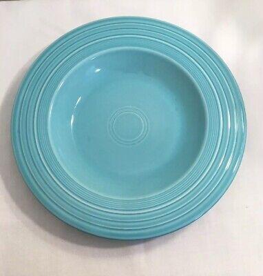 Vintage 1950s Fiestaware Turquoise Deep Plate Rimmed Soup Bowl Fiesta Original