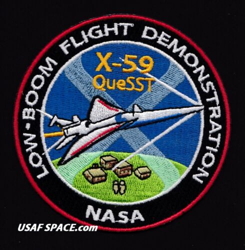 X-59 QueSST - LOW-BOOM FLIGHT DEMO - NASA ARMSTRONG FLIGHT RESEARCH PATCH