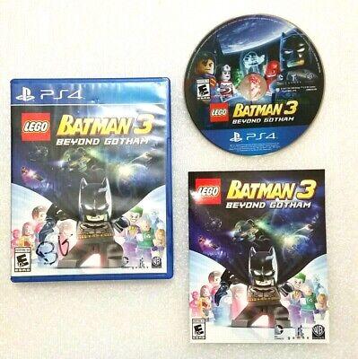 PS4 Game LEGO BATMAN 3 Beyond Gotham PLAYSTATION 4 - Disc, Case, Booklet