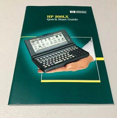 HEWLETT PACKARD HP 200LX User's Guide/Manual ++FREE SHIP! Thin Version Hewlett Packard Users Guide