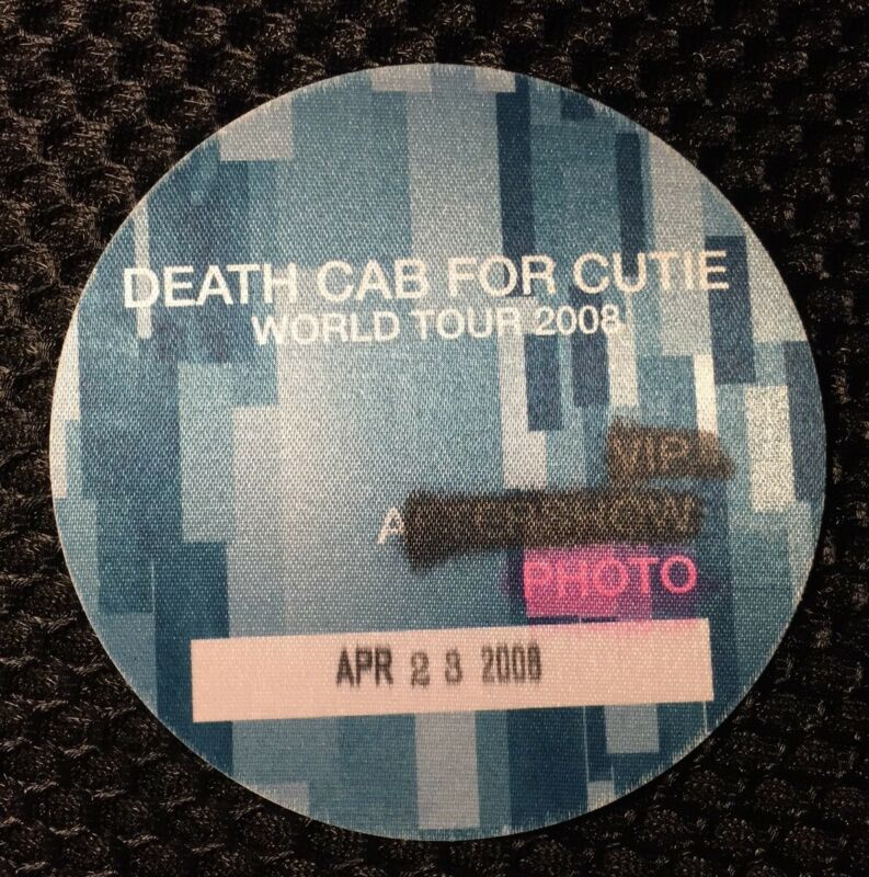 Death Cab For Cutie World Tour 2008 Photo Working Backstage Pass
