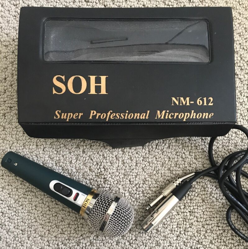 SOH NM-612 Super Professional Dynamic Microphone Karaoke DJ with Cable