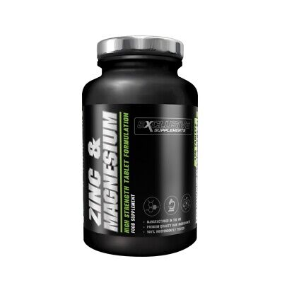 Zinc & Magnesium Tablets ZMA Supplement Vitamin B6 Tablet Exclusive Supplements (Exclusive Supplements)