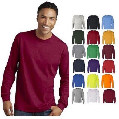 Gildan Heavy Cotton Long Sleeve T Shirt Mens Blank Casual Plain Tee Sport 5400 - Long Sleeve Blank T-shirts
