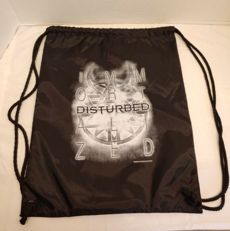 """Disturbed Drawstring Backpack Immortalized 13"""" x 17"""" New. FREE SHIPPING"""