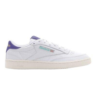 Reebok Classics Club C 85 (White/Team Purple/Chalk) Men's Shoes