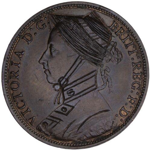 LOVE TOKEN Suffragette engraved on 1887 Victoria British Penny / Votes for Women