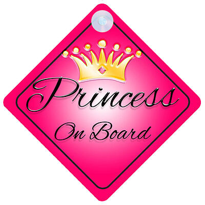 Princess001 On Board Car Sign New Baby/Child Gift/Present