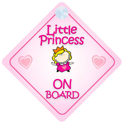 Little Princess On Board Car Sign New Baby/Child Gift/Present