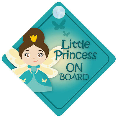 LP015 Little Princess On Board Car Sign New Baby/Child Gift/Present