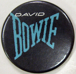 DAVID BOWIE Original 1980's Pin Badge Logo Mint - Let's Dance Smash Hits Mag.