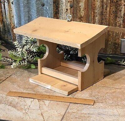 Hand Crafted Reclaimed Cedar Wood Bird Feeder