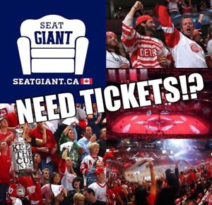 DETROIT RED WINGS PRE-SEASON TICKETS FROM JUST $10 CAD!!!