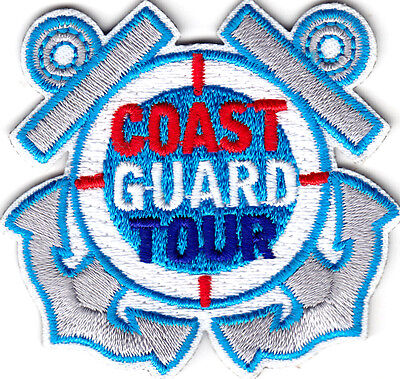 """COAST GUARD TOUR""  Iron On Patch Military Patriotic"