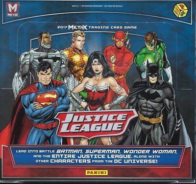 JUSTICE LEAGUE META X Booster Box Sealed 24 Packs Panini Trading Card Game METAX