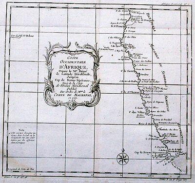 Antique map, Coste Occidentale D'Afrique