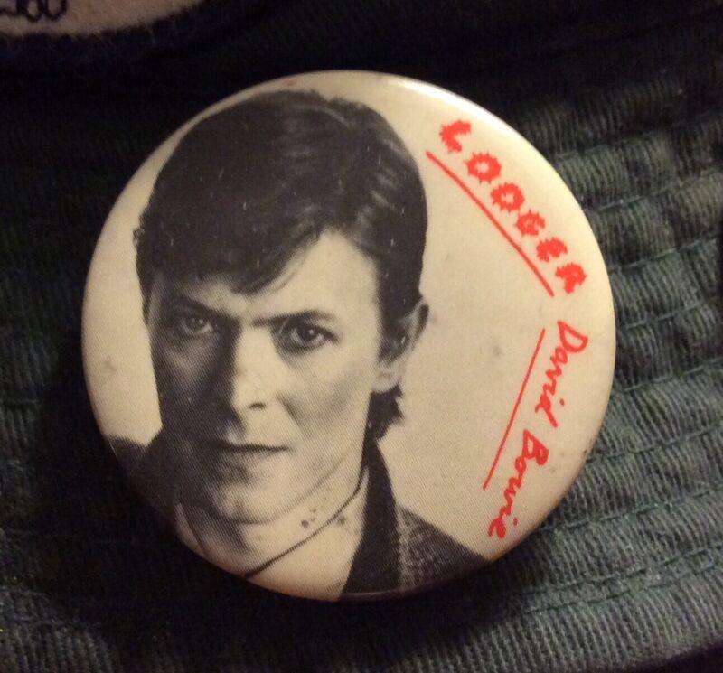 David Bowie Lodger Promo Button