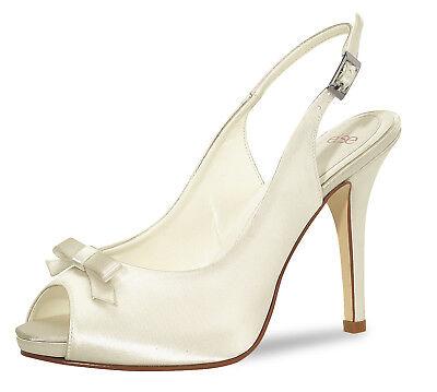 Brautschuhe Else Calicio Satin Hochzeitsschuh Bridal Shoes Braut Sandalen SALE  ()