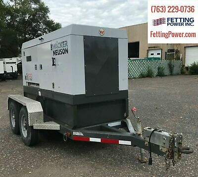 100kva Wacker Neuson Mobile Diesel Generator G100 Sn 20019171