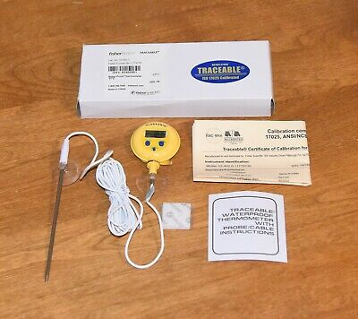Fisherbrand Traceable Water-proof Digital Thermometer Calibrated 02-402-0 New
