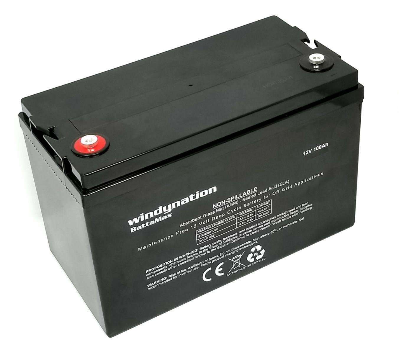12V 100ah (100 amp hour) Sealed AGM Deep Cycle AGM Battery Solar, RV, Off Grid