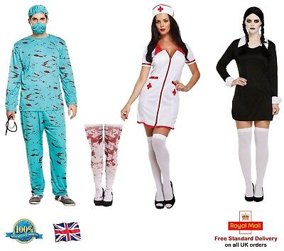 BLOODY SURGEON NURSE COSTUME SCARY DAUGHTER Doctor Halloween Fancy Dress Lot (Scary Surgeon Costume)