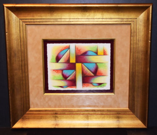 Original Aaron Reed Abstract Art Drawing Signed/Dated 2006 18.25 x 22.25 Framed